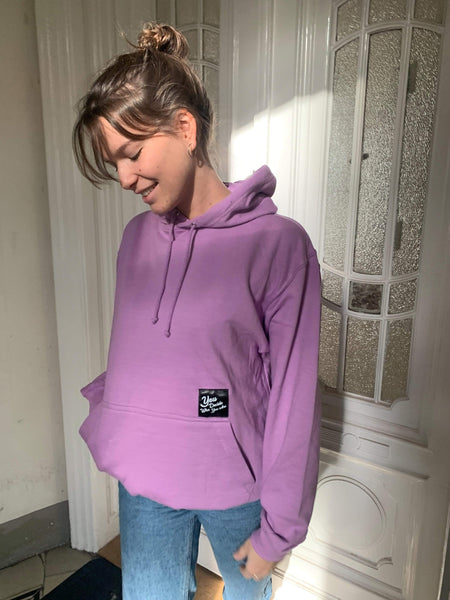 You Decide Who You Are classy hoodie (lilac) - You Decide Who You Are