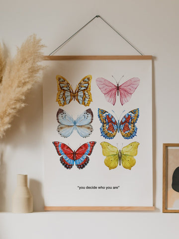 Butterflies Poster - YDWYA – You Decide Who You Are