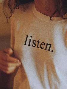 listen. T-Shirt (white) - YDWYA – You Decide Who You Are