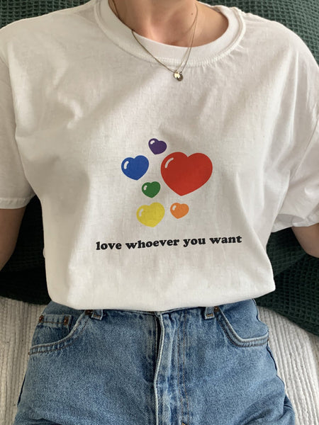 love whoever you want T-Shirt - YDWYA
