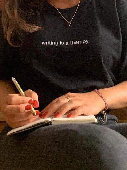 writing is a therapy. T-Shirt - YDWYA – You Decide Who You Are