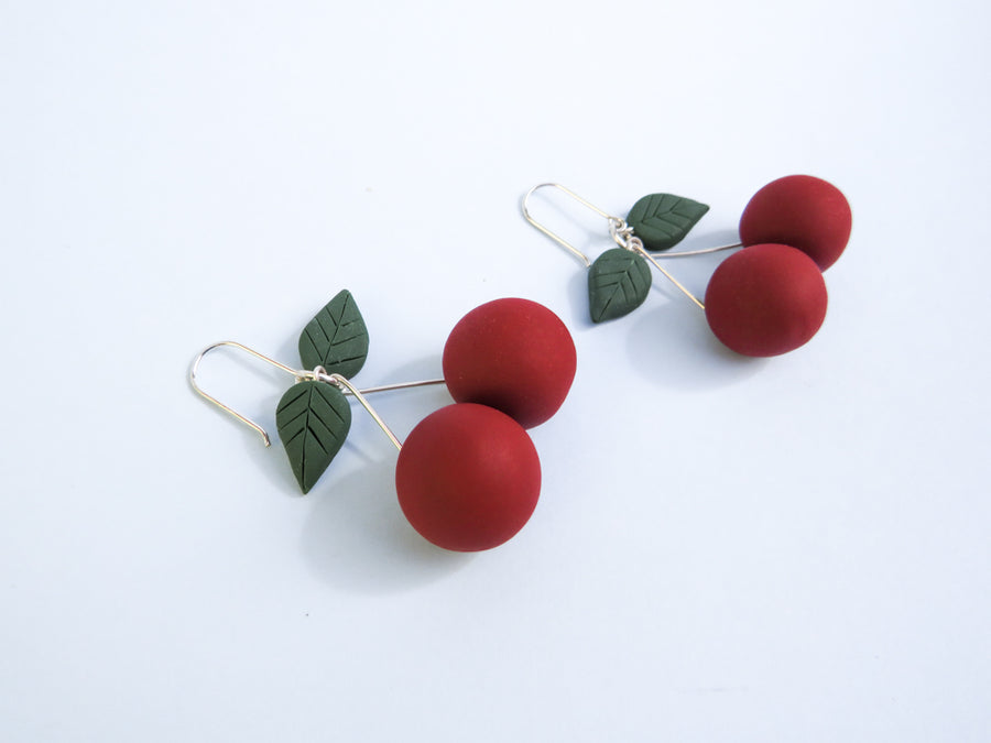 Fruit Earrings red and green