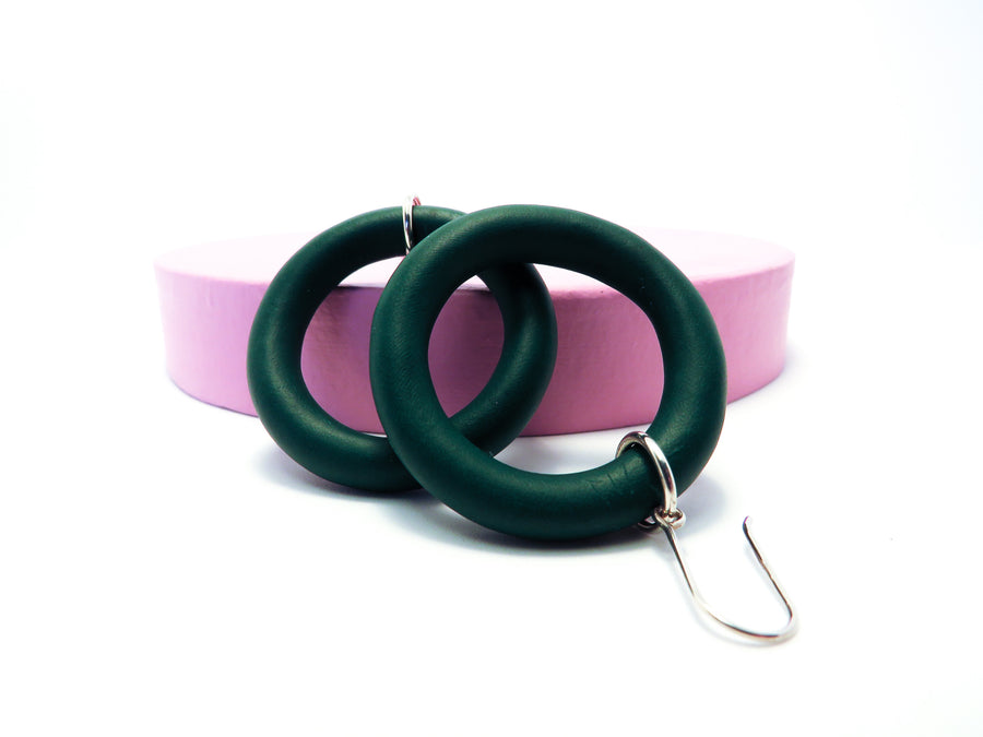 Forest Green Lil Mama Hoop