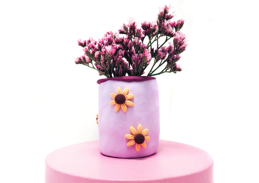 Purple Sunflower Vase - BAU.TISTA