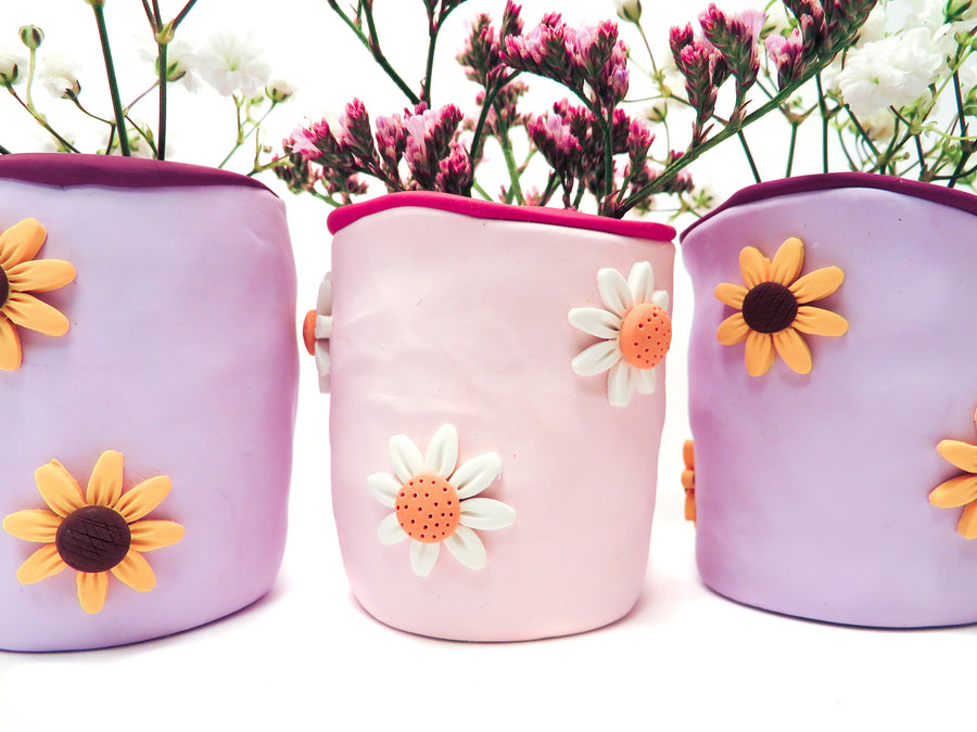 Purple Sunflower Vase