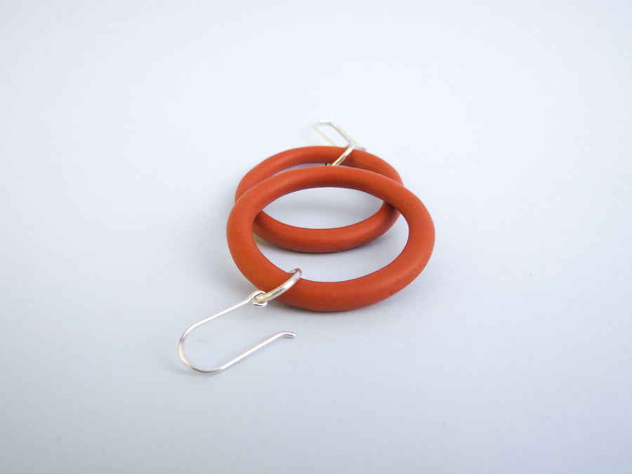 Burnt Orange Lil Mama Hoop