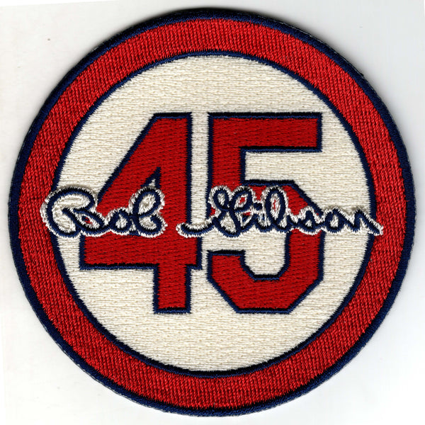 Bob Gibson 45 Memorial Patch (Cream)