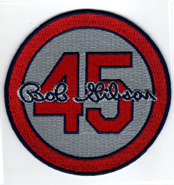Bob Gibson 45 Memorial Patch (Grey)
