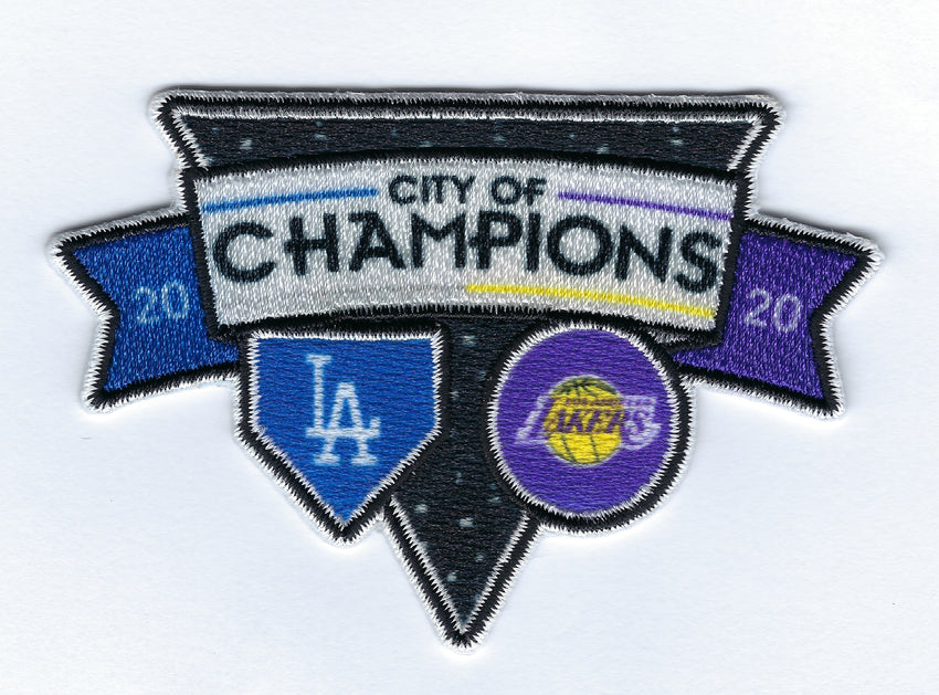 Dodgers and Lakers Dual Champions City of Champions Patch