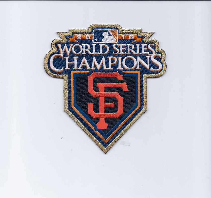 San Francisco Giants 2010 World Series Championship Patch (Gold Border)
