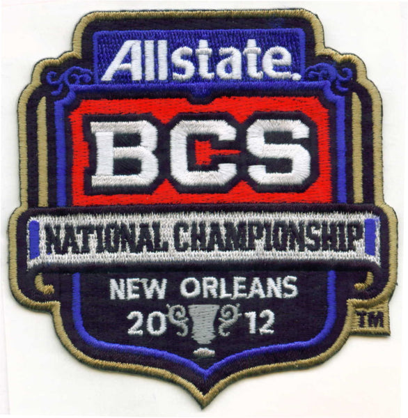 2012 Allstate BCS National Championship Patch