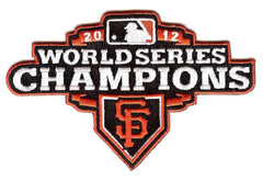 San Francisco Giants 2012 World Series Champions Patch (Orange Border)