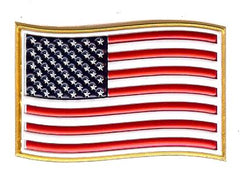 USA Flag EmbossTech Hat Patch