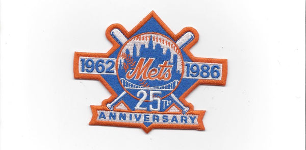 New York Mets 25th Anniversary 1962-1986 Patch
