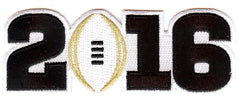 2016 College Football Playoff National Championship Patch White (Worn by Alabama)