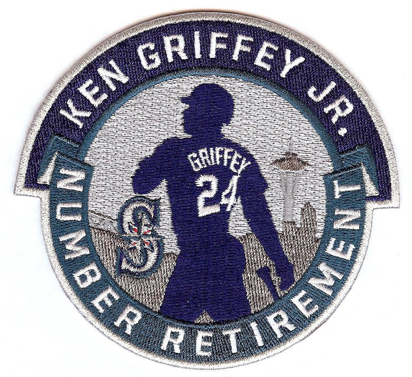 Ken Griffey Jr. Number Retirement Patch (Navy/Teal)