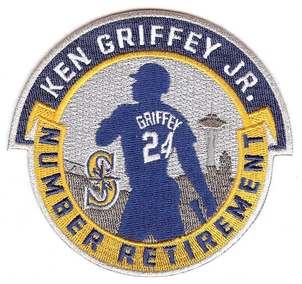 Ken Griffey Jr. Number Retirement Patch (Navy/Gold)