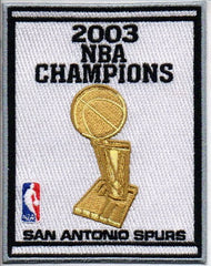 San Antonio Spurs 2003 NBA Champions Banner Patch