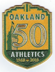 Oakland Athletics 50th Anniversary Patch