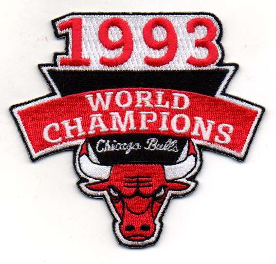 Chicago Bulls 1993 World Champions Patch