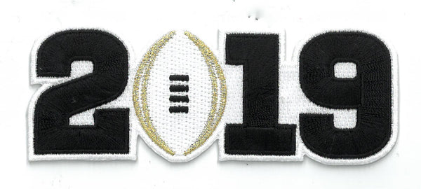 2019 College Football Playoff National Championship Patch White (worn by Clemson)