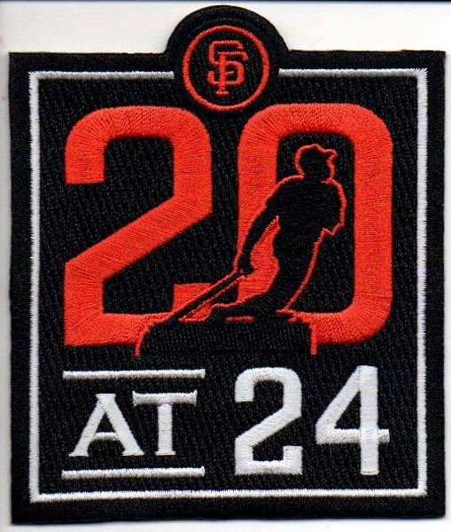 San Francisco Giants 20 at 24 Commemorative Patch