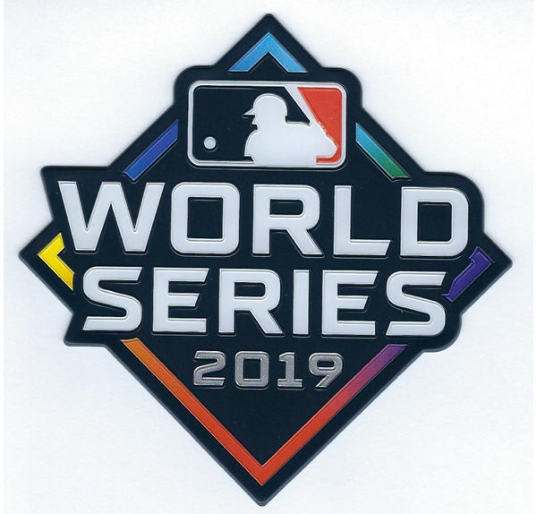 2019 MAJOR LEAGUE BASEBALL WORLD SERIES EMBOSSTECH PATCH