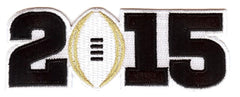 2015 College Football Playoff National Championship Patch White (Worn by Oregon)