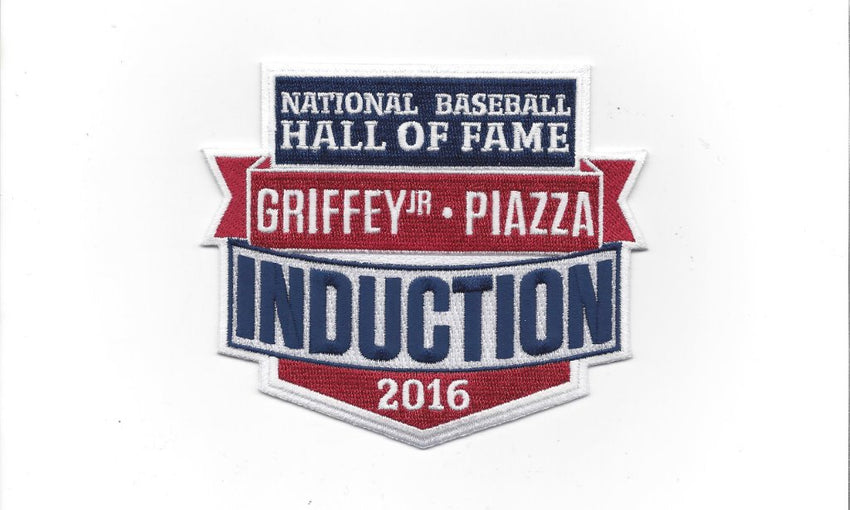 National Baseball Hall of Fame Induction 2016 Patch (Ken Griffey Jr. - Mike Piazza)