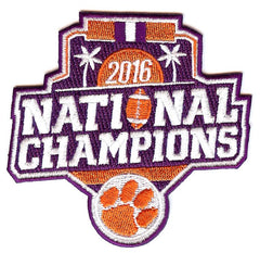 2016 Clemson Tigers National Champions Patch