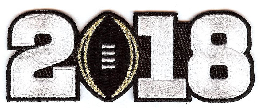 2018 College Football Playoff National Championship Patch Black (worn by Georgia)