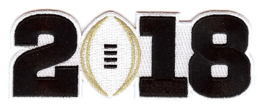 2018 College Football Playoff National Championship Patch White (worn by Alabama)