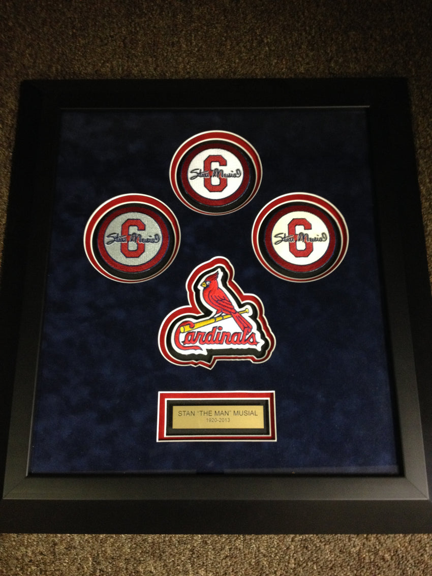 Stan Musial 4 Patch Framed Set