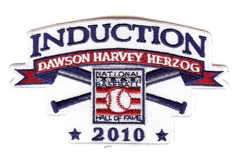 "2010 Baseball Hall of Fame Induction Patch ""Dawson, Harvey & Herzog"""