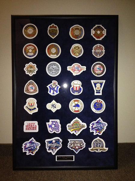 New York Yankees World Series 28 pc Framed Set
