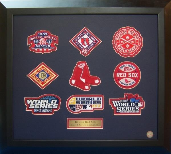 Boston Red Sox World Series 9 pc Framed Set