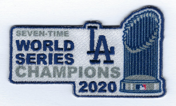 Los Angeles Dodgers 2020 World Series Champions - Trophy Envy FanPatch