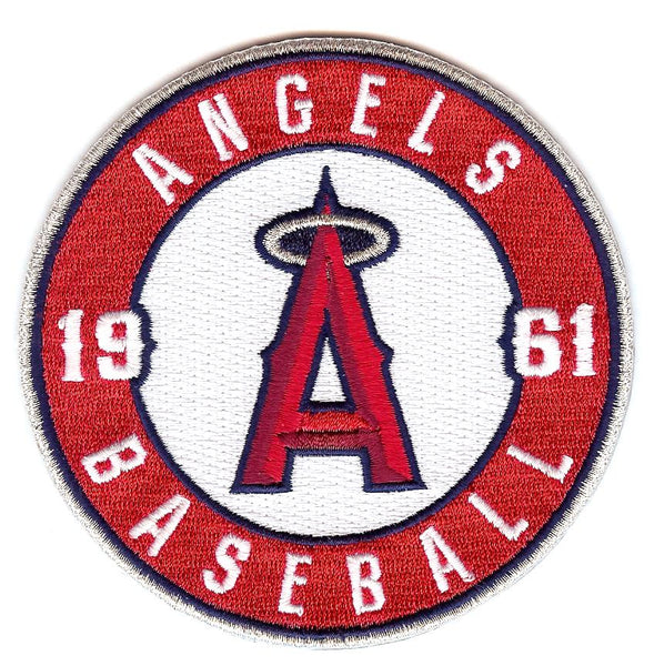 "Los Angeles Angels Baseball 1961 ""A"" w/ Halo Sleeve Patch"
