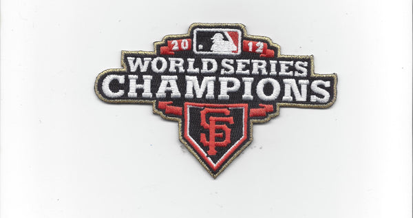 San Francisco Giants 2012 World Series Champions Patch (Gold Border)
