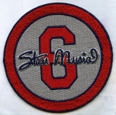 "Stan Musial ""6"" Memorial Patch (Grey)"