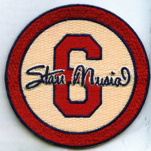 "Stan Musial ""6"" Memorial Patch (Cream)"