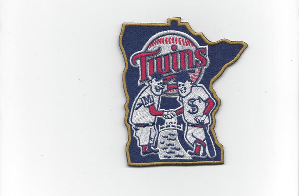 "Minnesota Twins 2015 ""Shaking Hands"" Patch / Home Sleeve"
