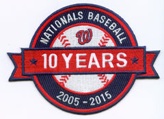 Washington Nationals 10 Year Anniversary Patch