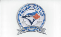 Toronto Blue Jays 40th Season Est. 1977 Patch