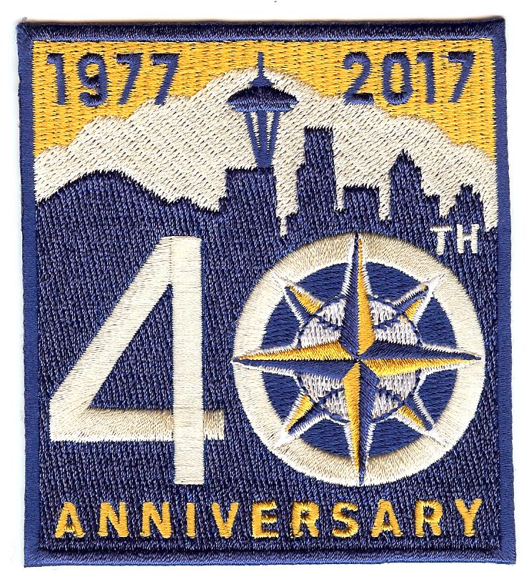 Seattle Mariners 40th Anniversary Alternate Patch