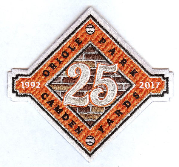Baltimore Orioles Camden Yards Park 25 Years Patch