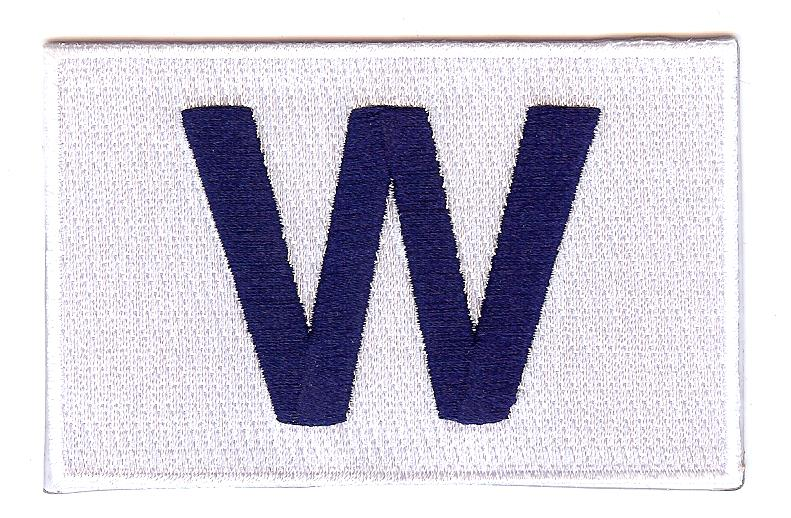 "Chicago Cubs Win ""W"" Flag Patch"