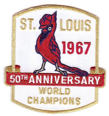 St. Louis Cardinals 1967 World Champs 50th Anniversary Patch