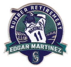 Edgar Martinez Number Retirement Patch (Navy/Teal)