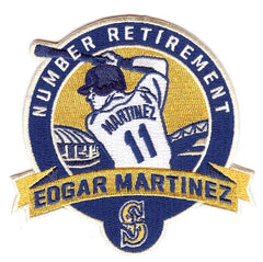 Edgar Martinez Number Retirement Patch (Navy/Gold)